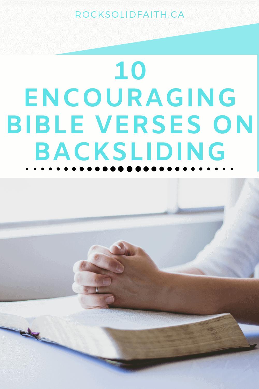 bible verses on backsliding