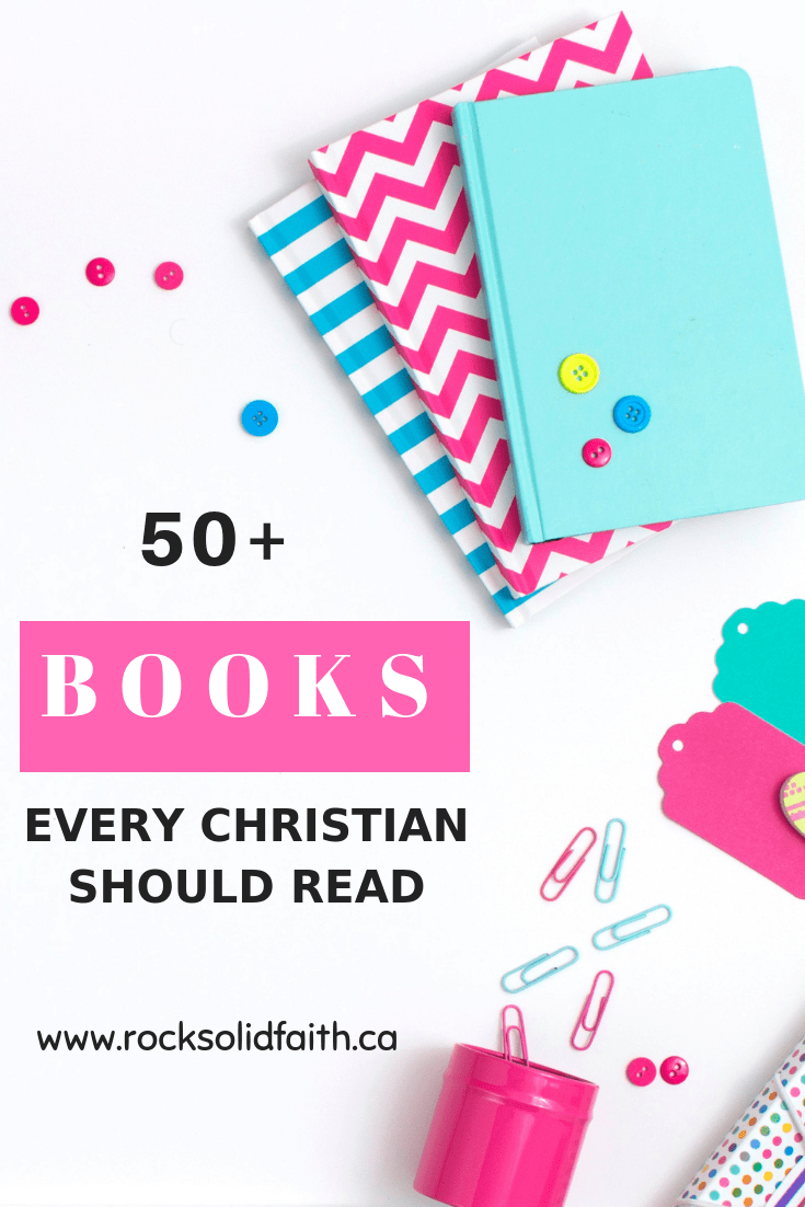 50+ Christian books every woman should read who want to grow their faith. Find young adult books, books on marraige, homemaking, christian fiction and lots more worth reading! #christianbooks #christianblogger #readingchallenge