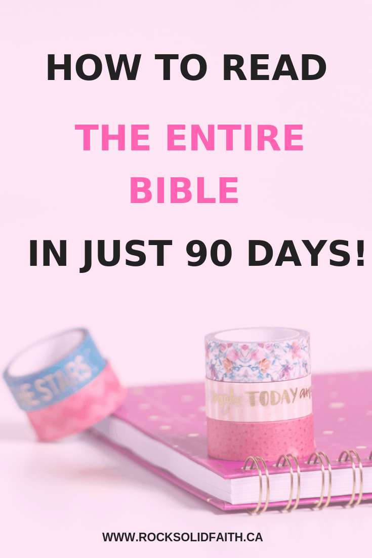 How to read the Bible cover to cove rin just 90 day! Bible study for women and chrsitians in college to grow their faith this year! #bible #biblestudy #biblelessons #youngadult