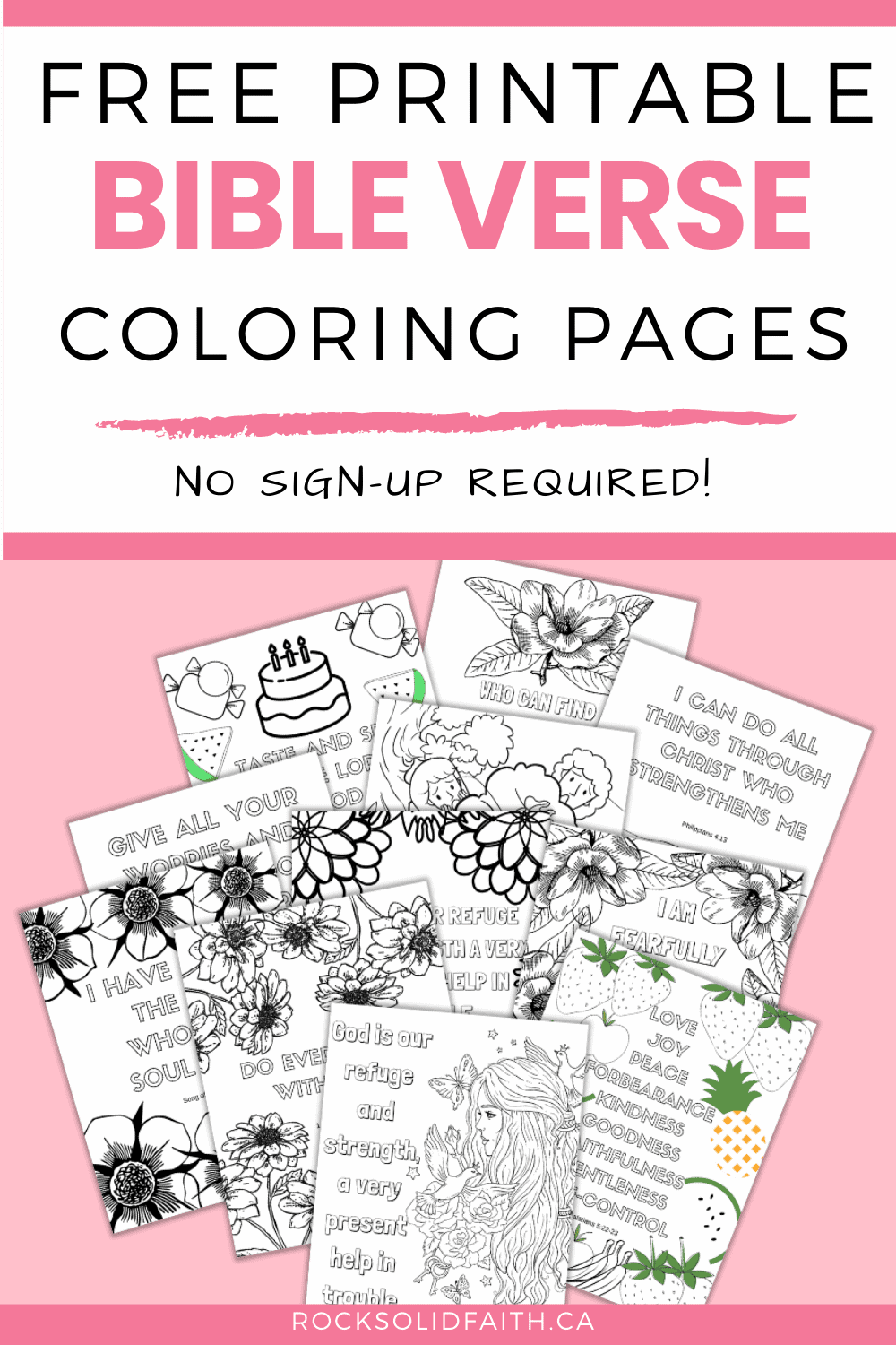 Free Printable Bible Verse Coloring Pages For Adults Rock Solid Faith