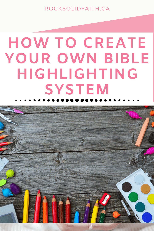 bible highlighting system