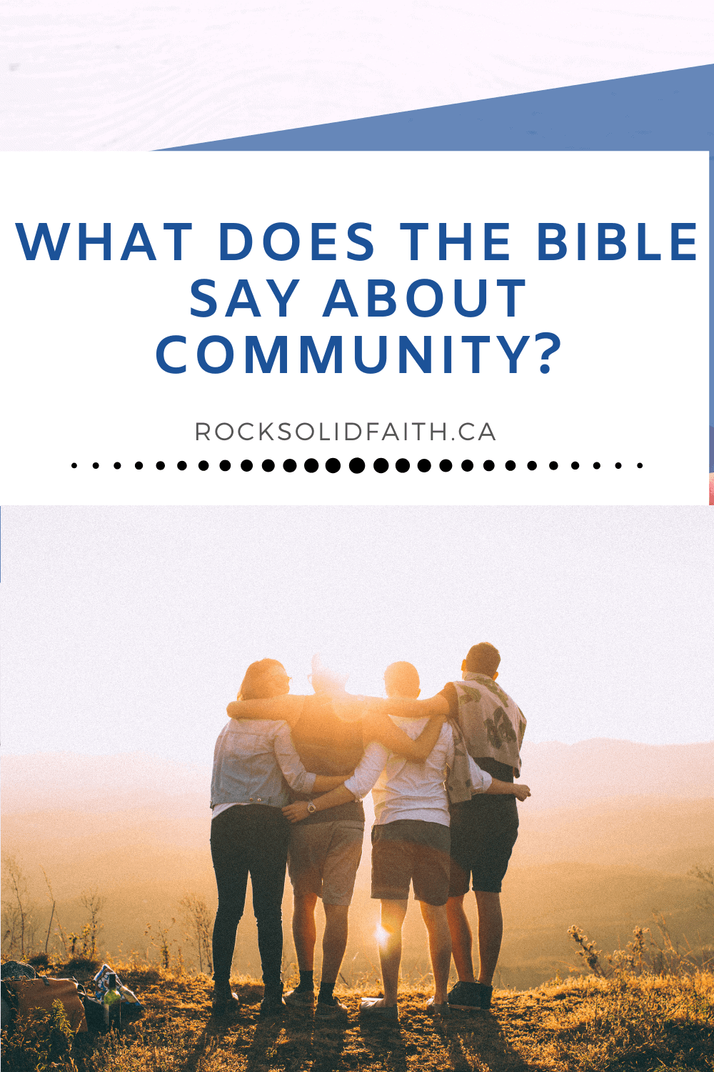 Bible verses about community