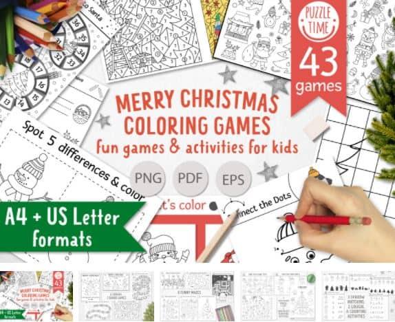 merry christmas christmas coloring pages printable
